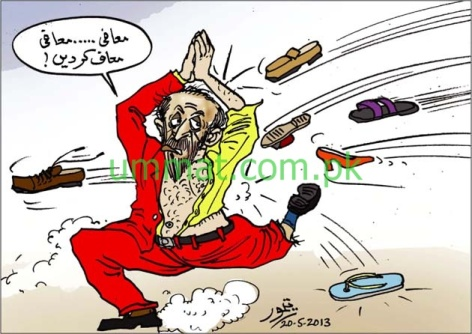 CARTOON_Farooq Sattar apologises after being shoed